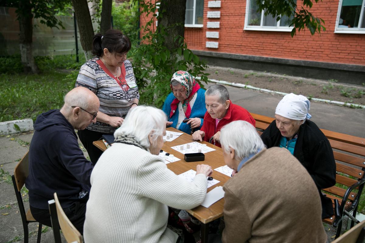 Дом престарелых в королеве социальные работа дома интерната для престарелых